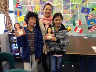Genie Hwang and students